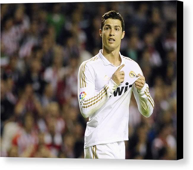 Cristiano Ronaldo Canvas Print featuring the photograph Cristiano Ronaldo 4 by Rafa Rivas