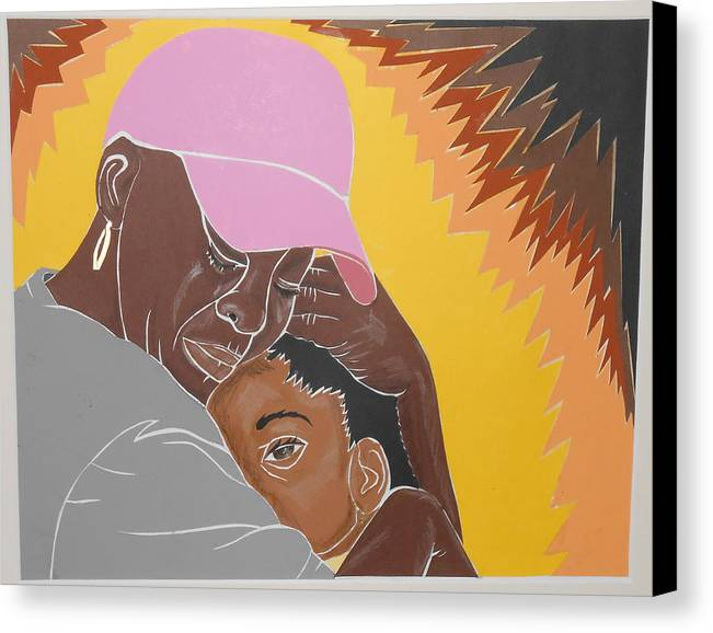 Mommy Canvas Print featuring the mixed media Mommy's Back by Martha Rucker