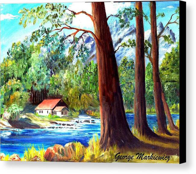 Lake Canvas Print featuring the print A Quiet Place by George Markiewicz