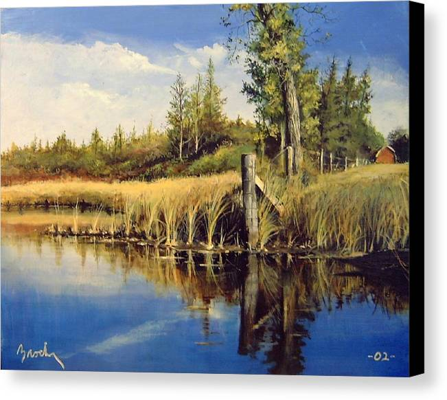 Landscape Canvas Print featuring the painting Along The Way by William Brody