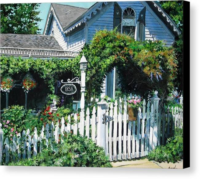 Rural Canvas Print featuring the painting Milford House by William Brody