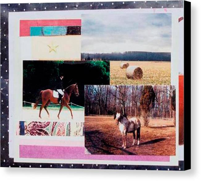 Horse Canvas Print featuring the mixed media Country Collage 6 by Mary Ann Leitch