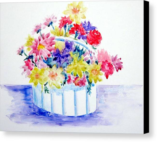 Flowers Canvas Print featuring the painting Spring Bouquet by Marsha Elliott