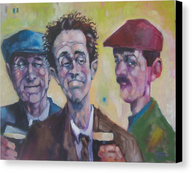 Figure Canvas Print featuring the painting The Inside Joke by Kevin McKrell