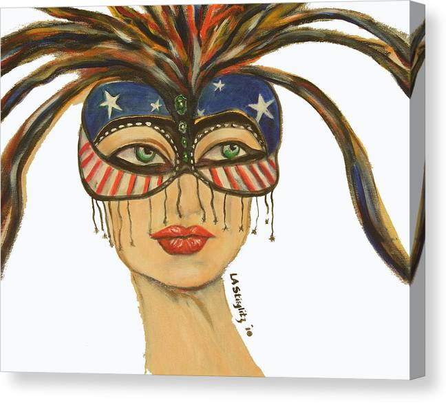 Canvas Print featuring the painting Miss America by Lee Anne Stieglitz