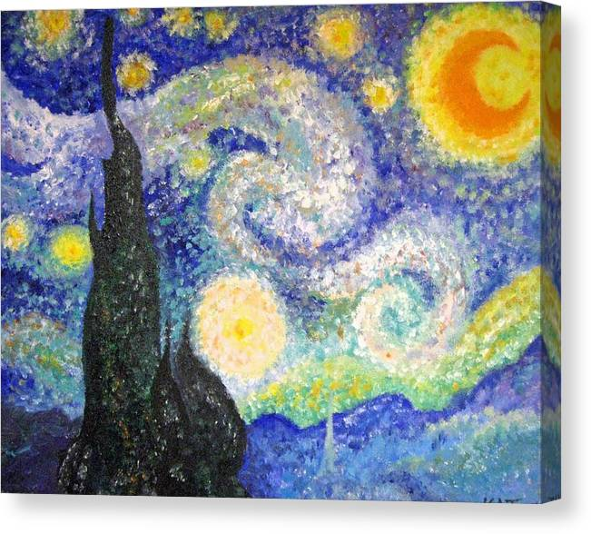 Replicas Canvas Print featuring the painting Replica Of Van Gogh by Katerina Wagner