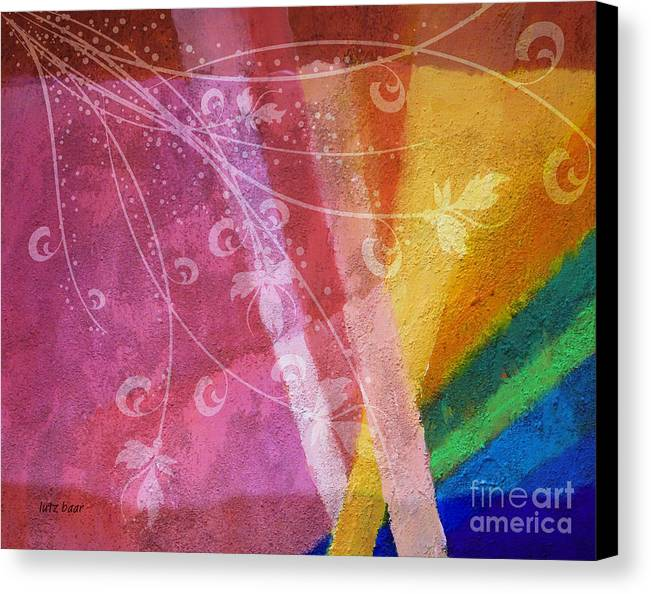 Abstract Painting Canvas Print featuring the digital art Fantasia II by Lutz Baar