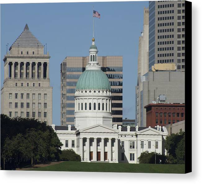 St Louis Canvas Print featuring the photograph The Old Federal Courthouse St Louis by Garry McMichael