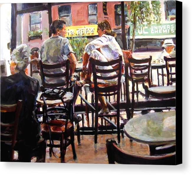 2006 Canvas Print featuring the painting Ny Spice by Chuck Berk