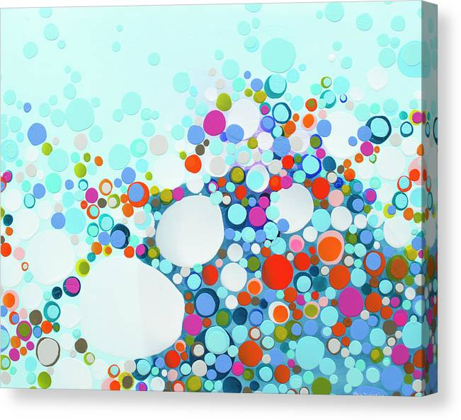 Abstract Canvas Print featuring the painting Comfortable In Chaos by Claire Desjardins