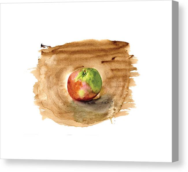Apple Canvas Print featuring the painting Macintosh by Paul Gaj