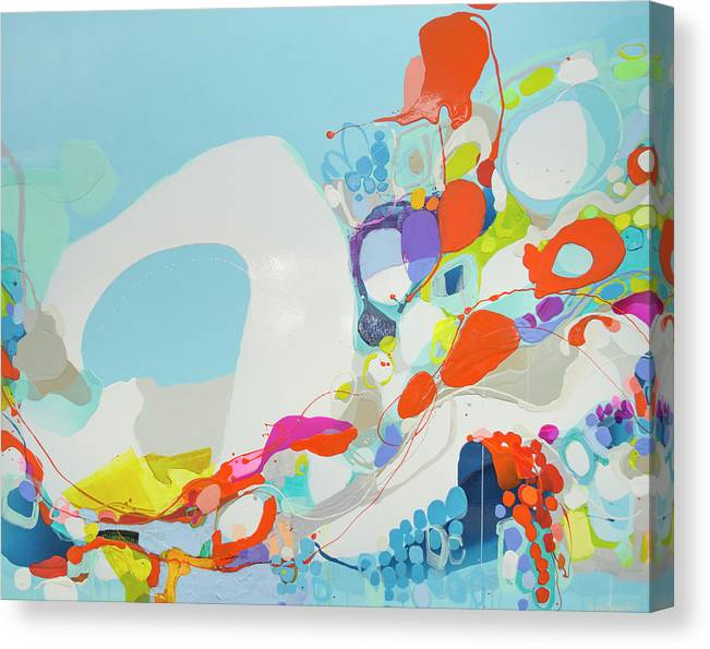 Abstract Canvas Print featuring the painting When Alexa Moved In by Claire Desjardins