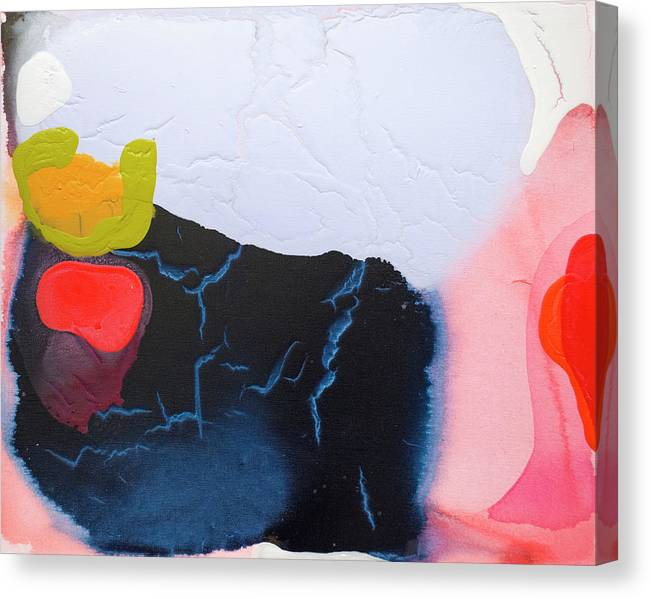 Abstract Canvas Print featuring the painting Maya 01 by Claire Desjardins