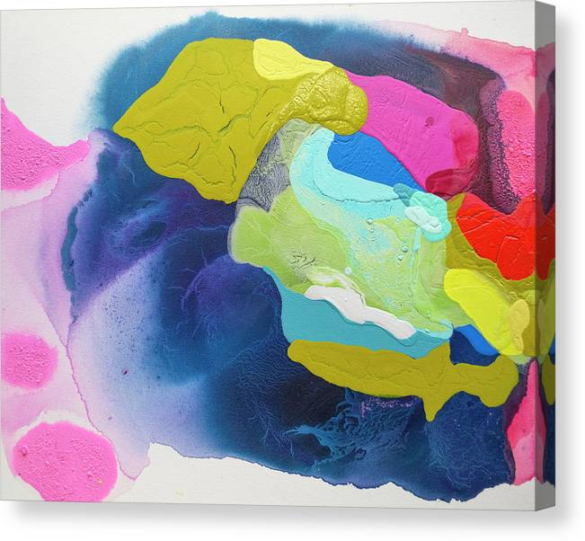 Abstract Canvas Print featuring the painting Maya 02 by Claire Desjardins