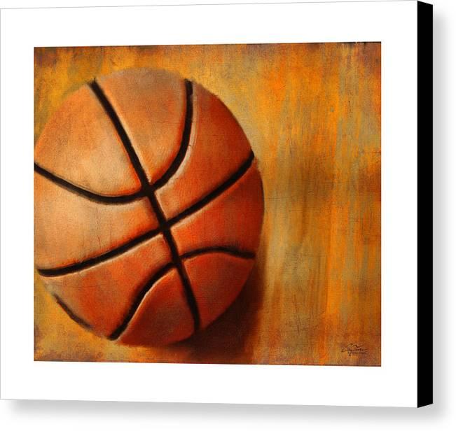 Sports Canvas Print featuring the digital art Basket Ball by Craig Tinder