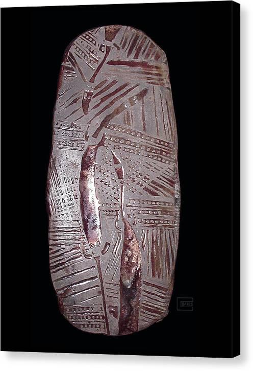 Raku Ceramic Wall Sculpture Canvas Print featuring the mixed media Messengers by Bates Clark