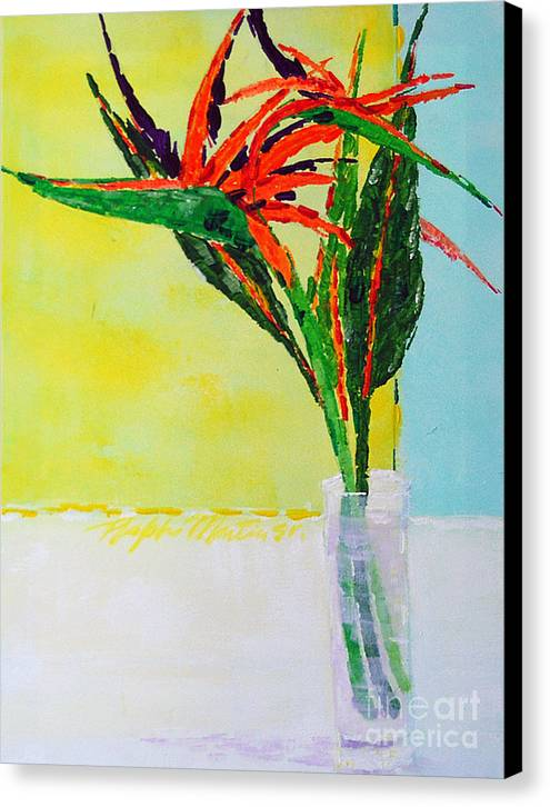 Flowers Canvas Print featuring the painting Flower Power by Art Mantia