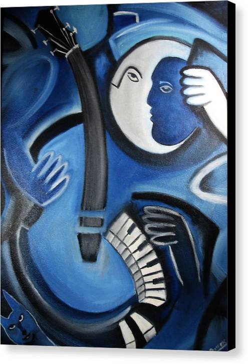 Abstract Canvas Print featuring the painting Musical Mayhem by Prateek Sabharwal