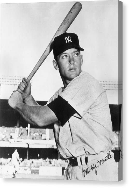 Mickey Mantle at-bat by Gianfranco Weiss