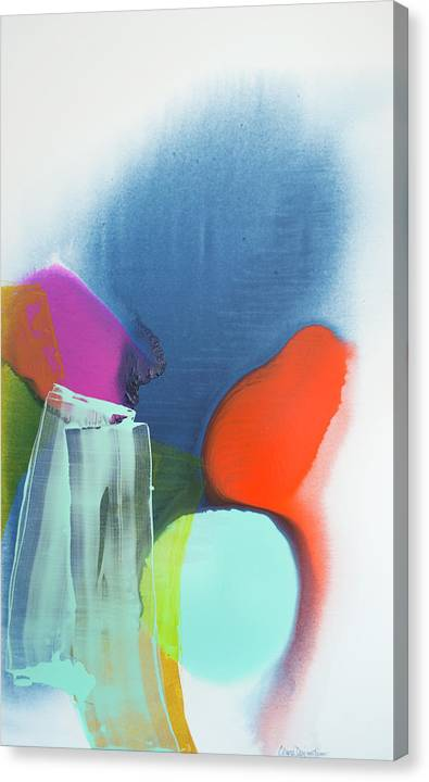 Abstract Canvas Print featuring the painting Being Sincere by Claire Desjardins