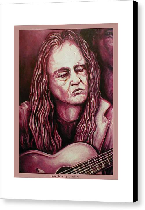 Canvas Print featuring the digital art Willie The Print by Lloyd DeBerry