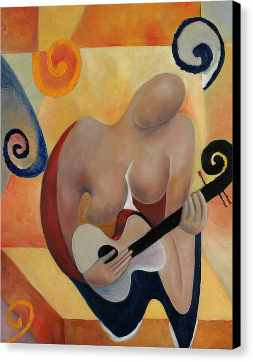 Music Canvas Print featuring the painting Gypsy Blues by Niki Sands