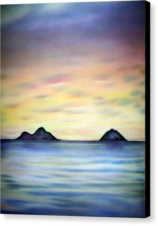 Lanikai Canvas Print featuring the painting Lanikai Dawn by Kevin Smith