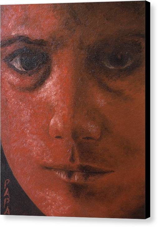 Red Face Canvas Print featuring the painting Red Face by Ralph Papa