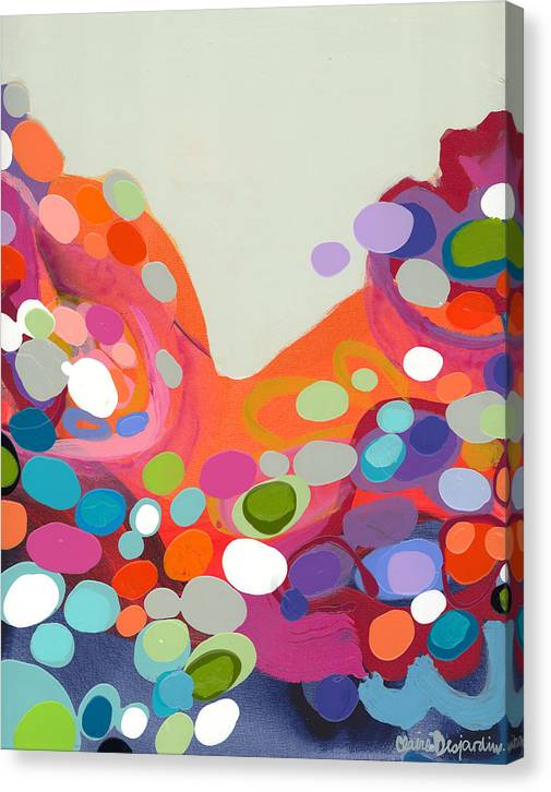 Abstract Canvas Print featuring the painting Spoonful Of Joy by Claire Desjardins