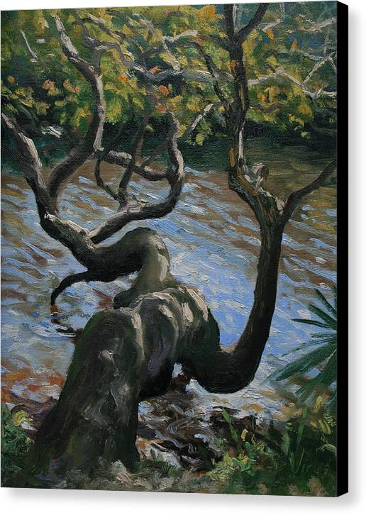 Oil Painting Canvas Print featuring the painting Hanging Out by Michael Vires