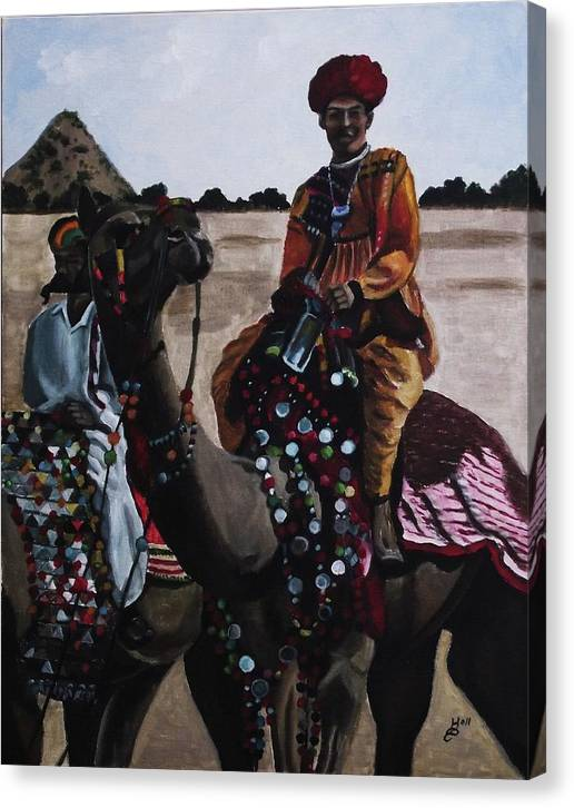 Acrylic Canvas Print featuring the painting Camel Fair by Kim Selig