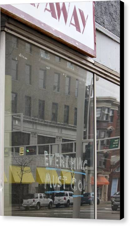 Storefront Canvas Print featuring the photograph Everthing by MK Rhea