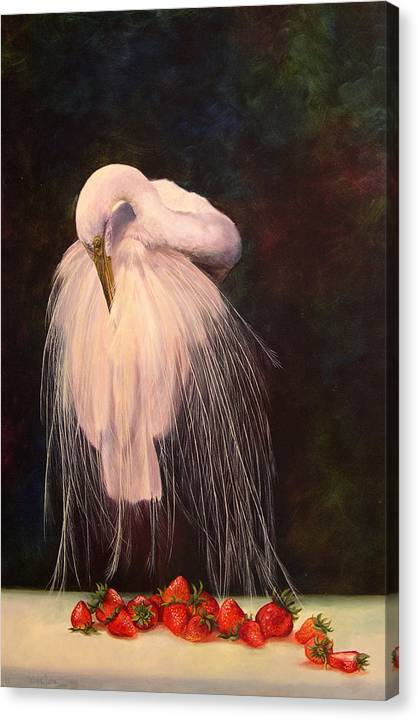 Bird Canvas Print featuring the painting Wild And Sweet 1 by Valerie Aune
