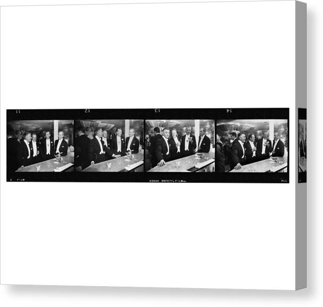 Jimmy Stewart Canvas Print featuring the photograph Four Kings Of Hollywood by Slim Aarons