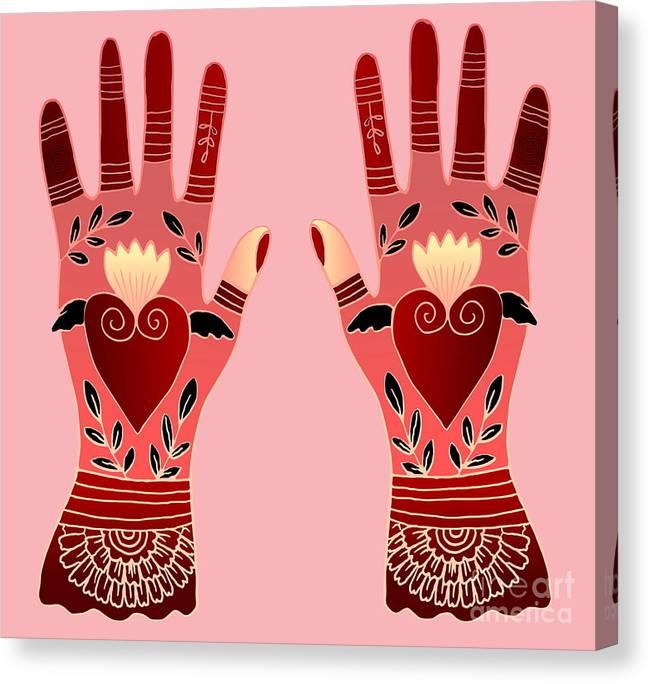 Hands Canvas Print featuring the digital art Creative Hands by Elaine Jackson