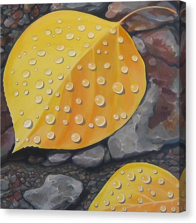 Aspen Canvas Print featuring the painting Aspen Rain by Hunter Jay