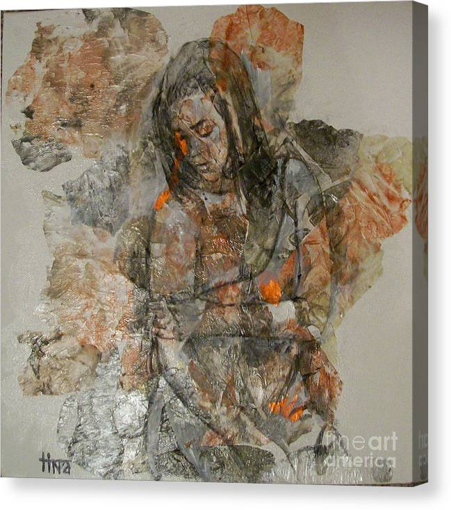 Figurative Canvas Print featuring the painting Changing by Tina Siddiqui