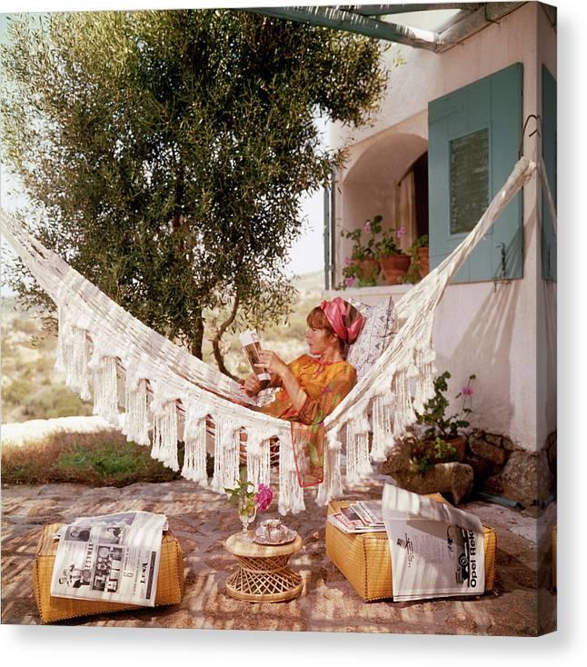 Bettina Graziani Canvas Print featuring the photograph Bettina Graziani by Slim Aarons