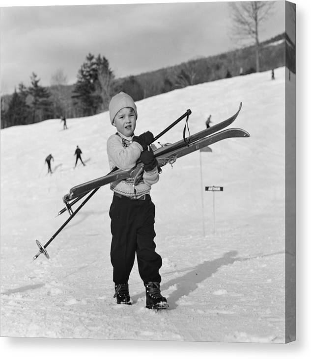 New England Skiing Canvas Print