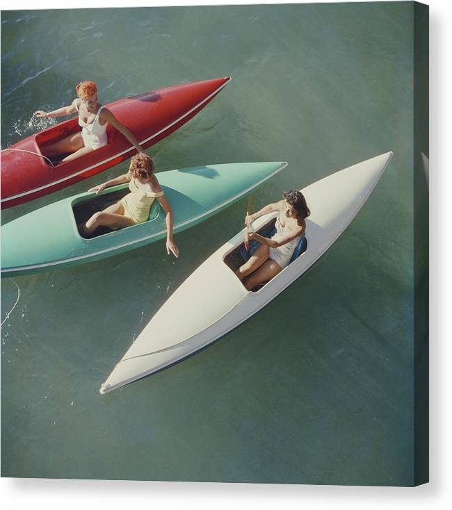People Canvas Print featuring the photograph Lake Tahoe Trip by Slim Aarons
