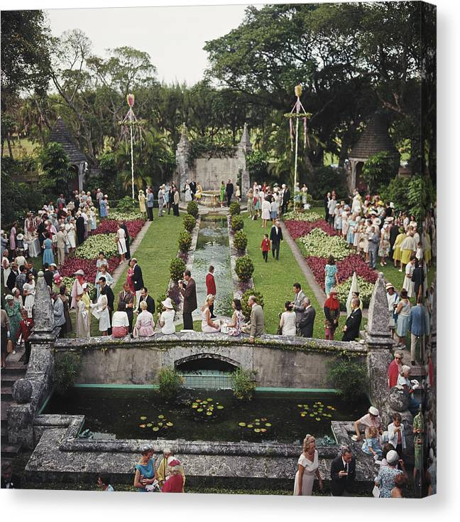 People Canvas Print featuring the photograph Arts Festival by Slim Aarons