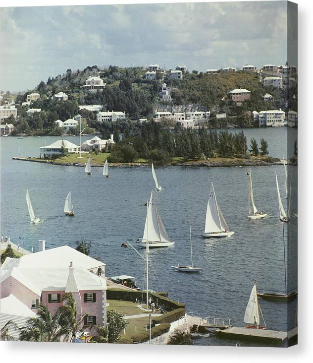 1950-1959 Canvas Print featuring the photograph Bermuda View by Slim Aarons