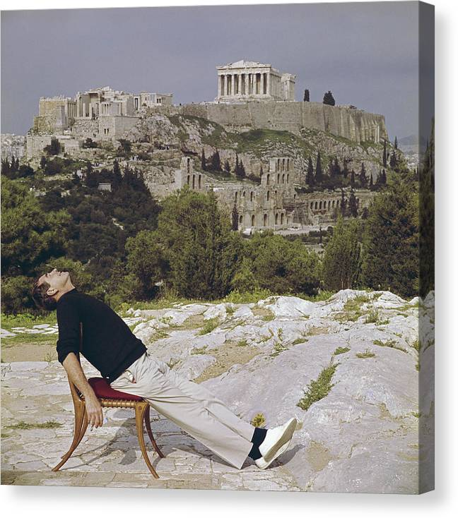 People Canvas Print featuring the photograph Civilised Snooze by Slim Aarons