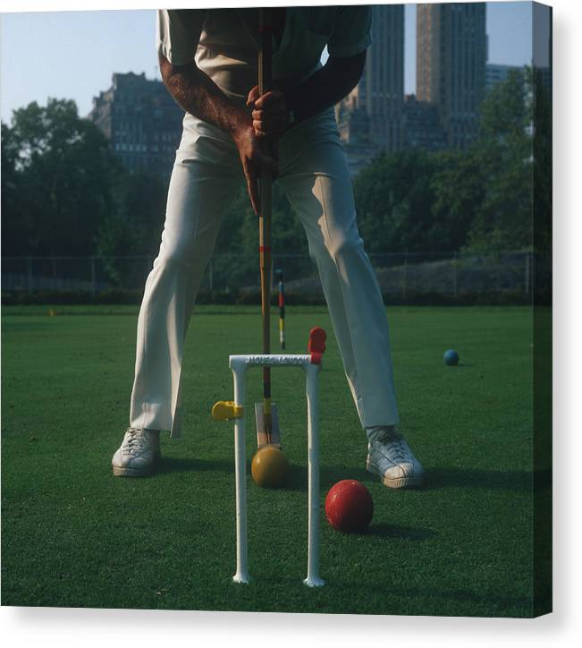 Croquet Canvas Print featuring the photograph Croquet Player by Slim Aarons