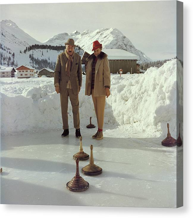 Curling Canvas Print featuring the photograph Curling by Slim Aarons