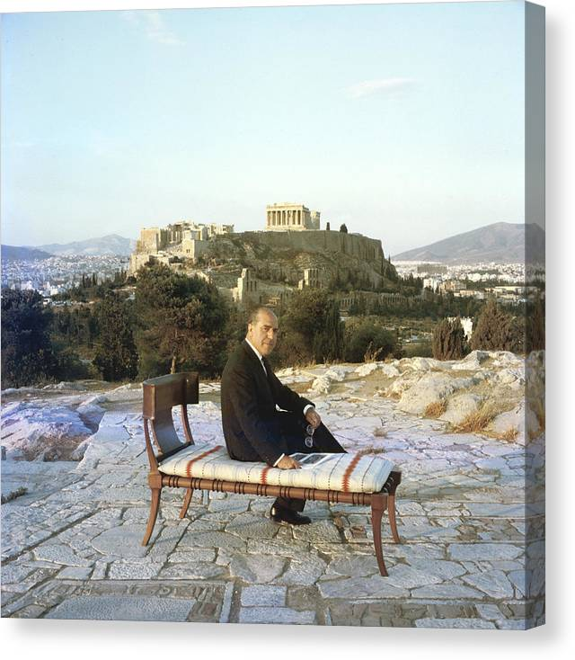 People Canvas Print featuring the photograph Eleftherios Saridis by Slim Aarons