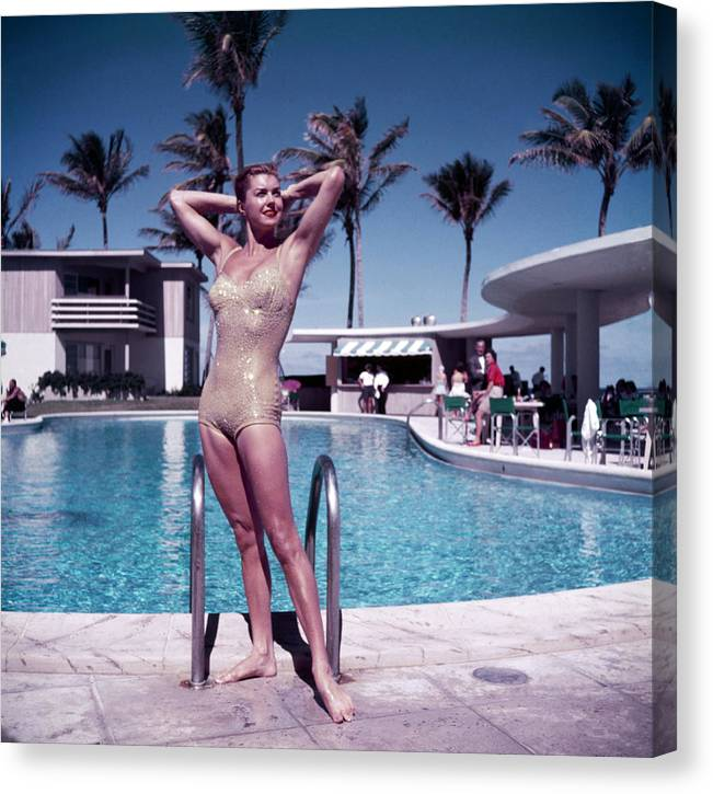 Esther Williams Canvas Print featuring the photograph Esther Williams In Florida by Slim Aarons