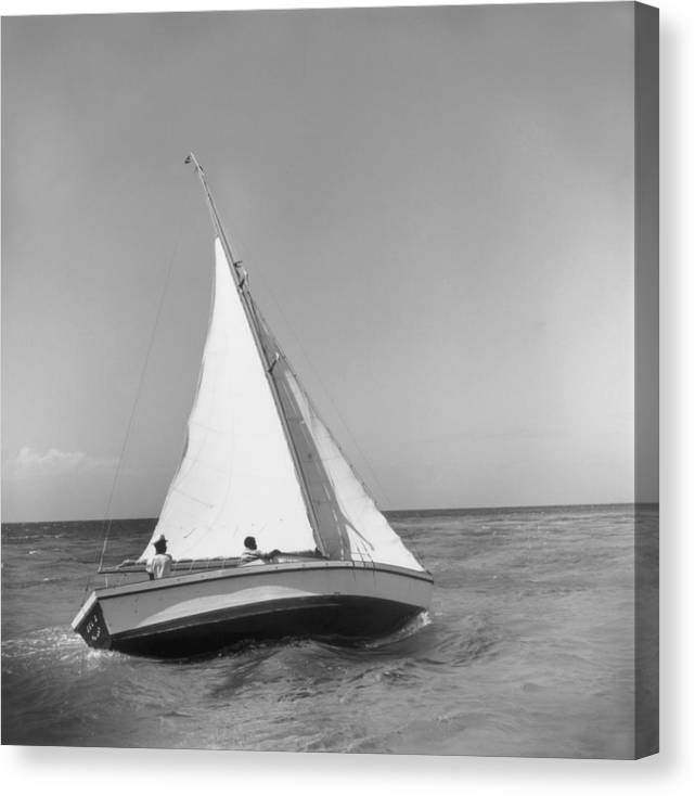 1950-1959 Canvas Print featuring the photograph Jamaica Sea Sailing by Slim Aarons