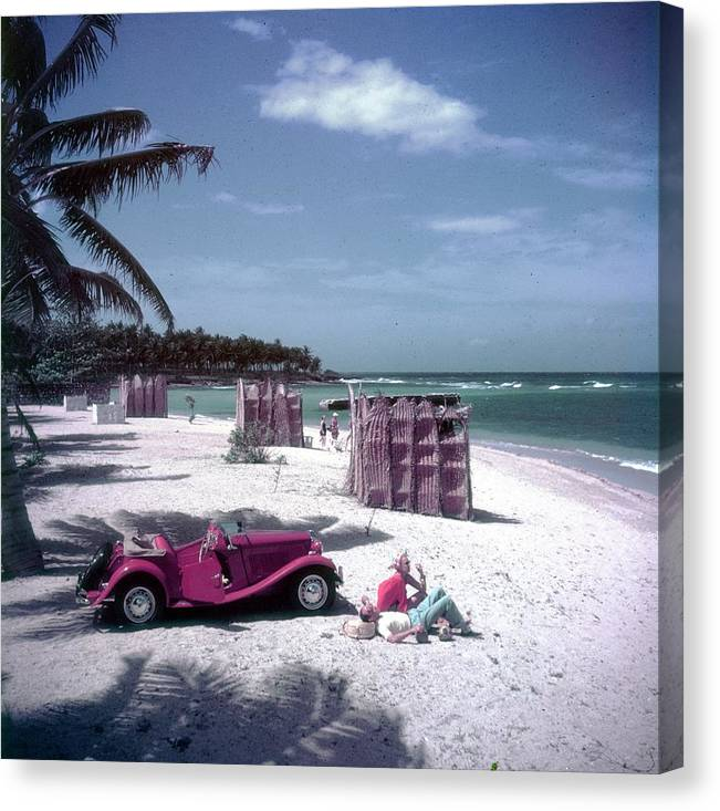 Montego Bay Canvas Print featuring the photograph John Rawlings by Slim Aarons