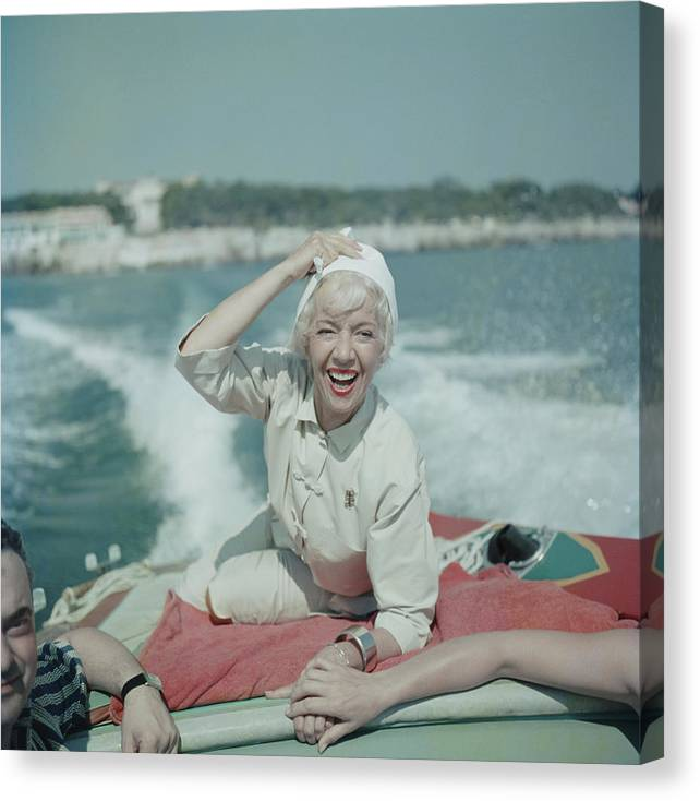 1950-1959 Canvas Print featuring the photograph Lily On The Riviera by Slim Aarons